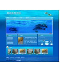 蓝色养鱼类织梦企业网站模版