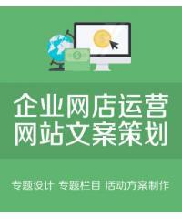 企业网店运营策划,专题设计单页网站文案策划,专题栏目活动方案制作